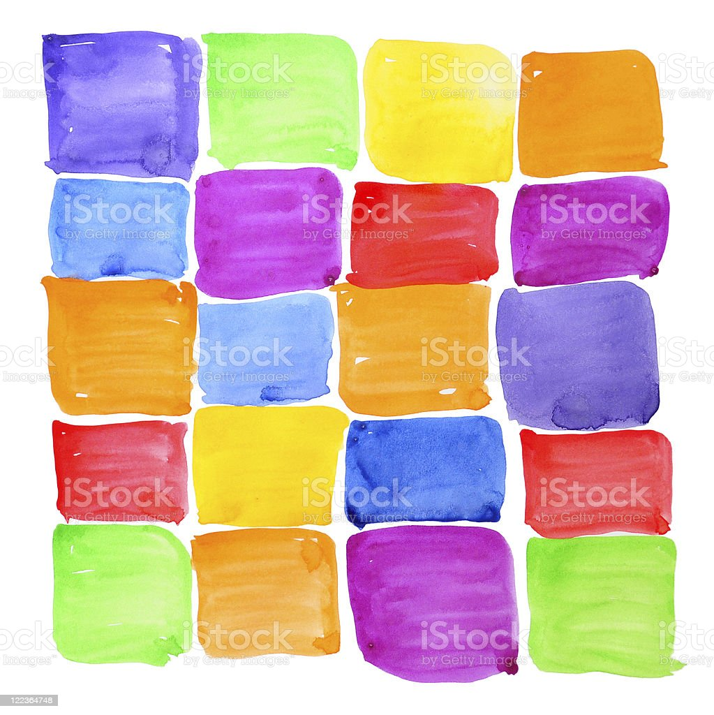 Colorful rough paint samples. Abstract background. royalty-free stock vector art