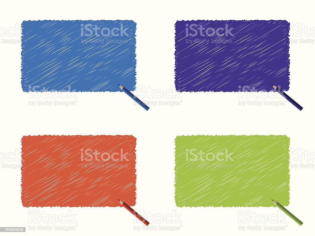 Colorful scribbles with color pencil royalty-free stock vector art