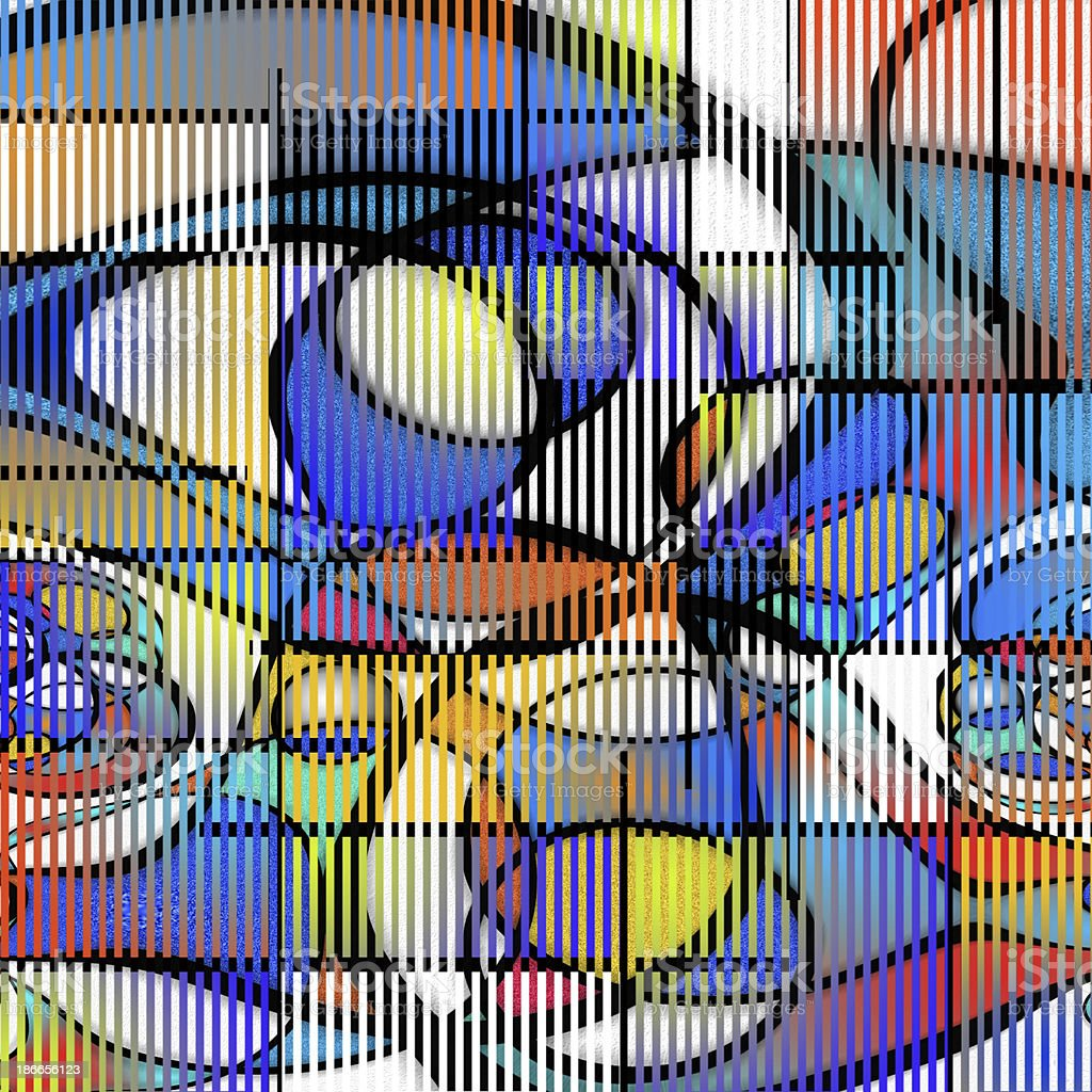 Colorful Shapes Composition vector art illustration