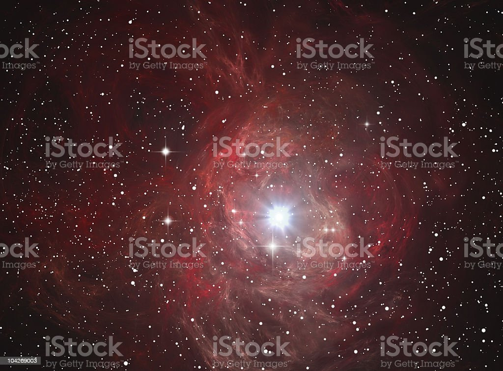 Colorful space nebula royalty-free stock vector art