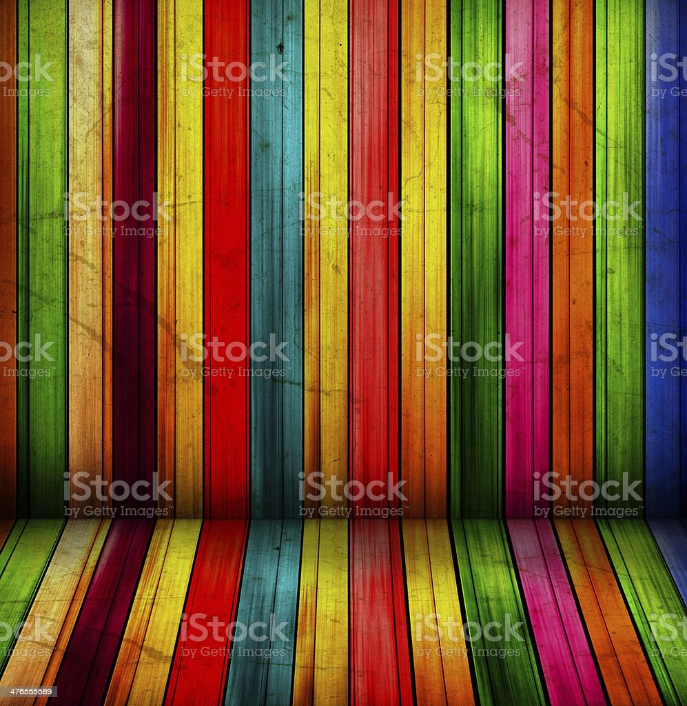 colorful spectral wooden room royalty-free stock vector art