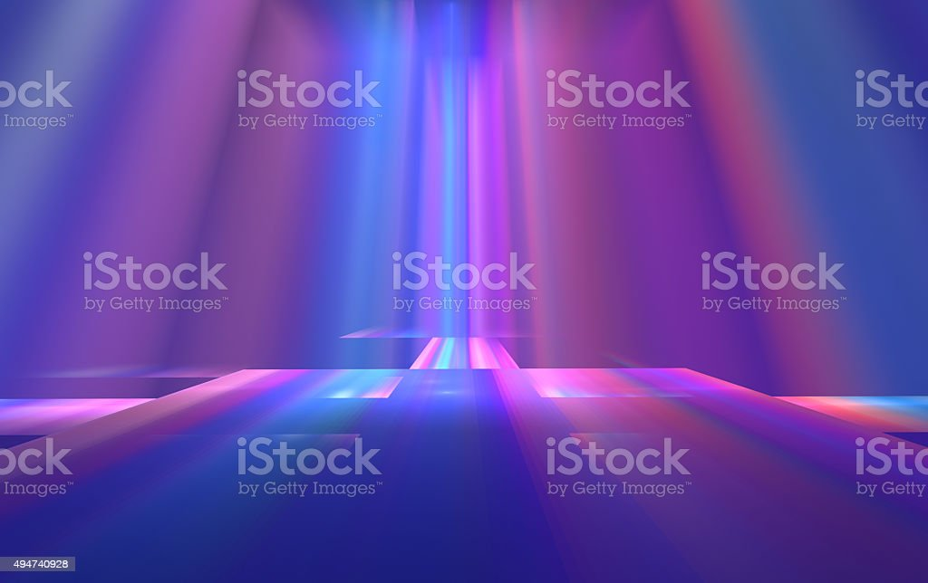 Colorful Stage - Art  Abstract Background vector art illustration