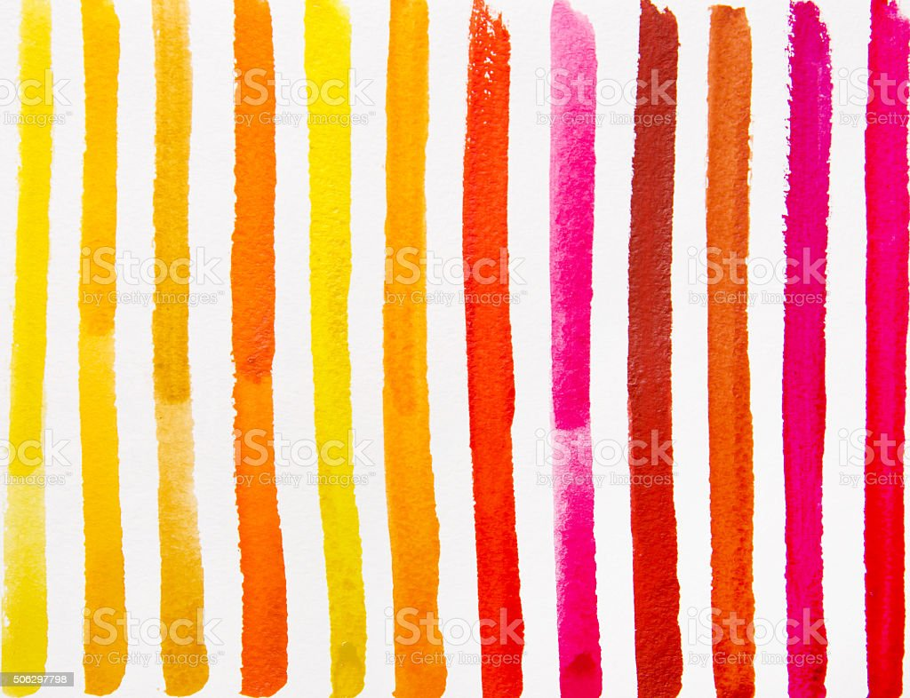 colorful strips water color vector art illustration