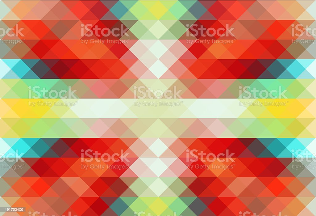 Colorful Triangle Abstract Pixelation Vector Background – Image № 019 vector art illustration
