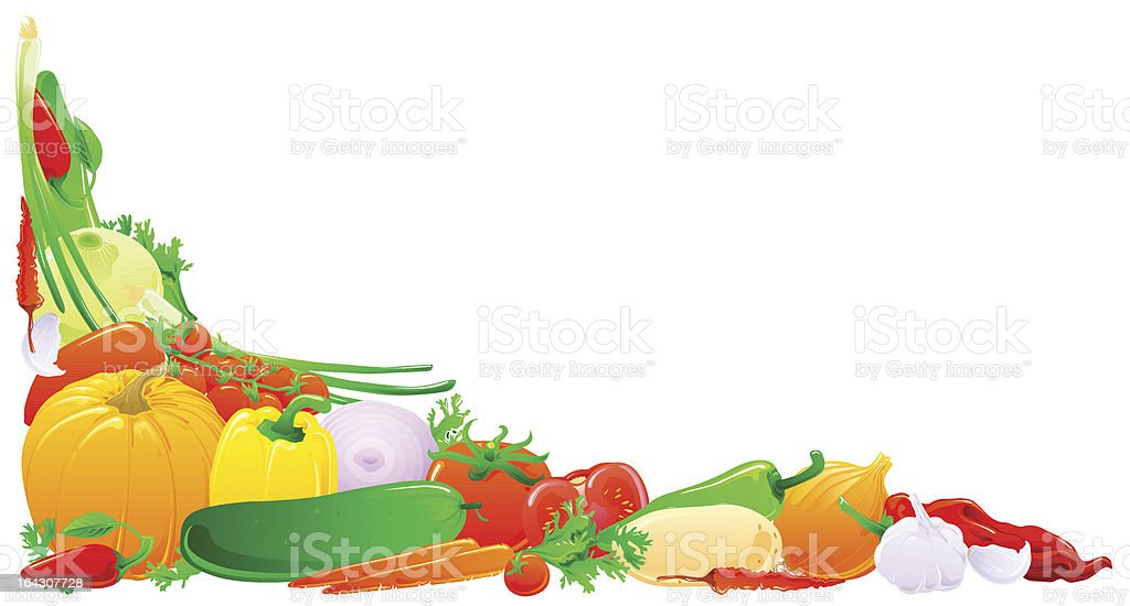Colorful vegetable corner royalty-free stock vector art