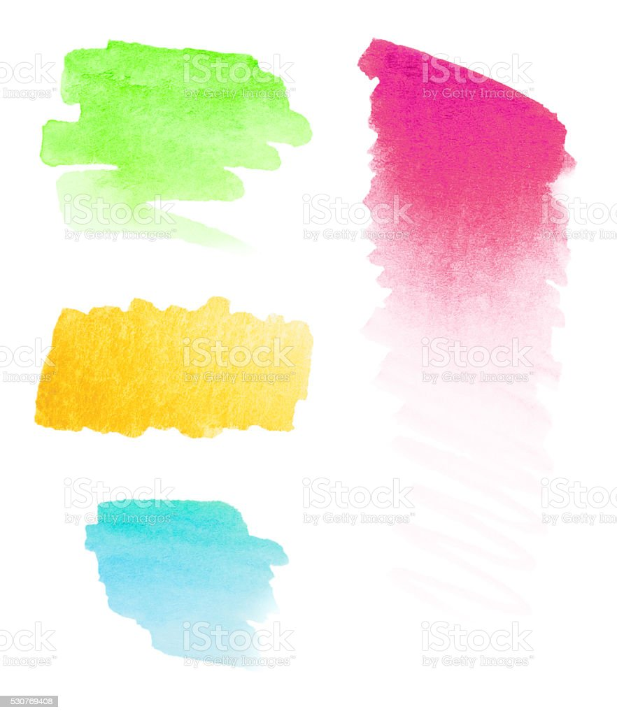 Colorful Watercolor Paint Abstracts stock photo