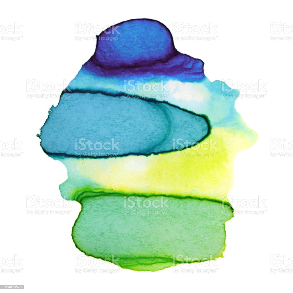 Colorful Watercolor Paint Paper Texture royalty-free stock vector art