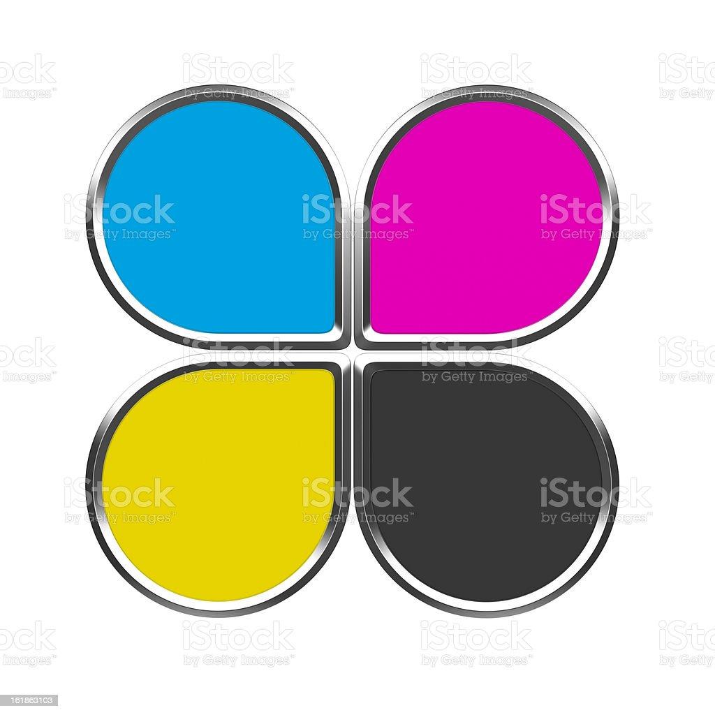 CMYK colors royalty-free stock vector art
