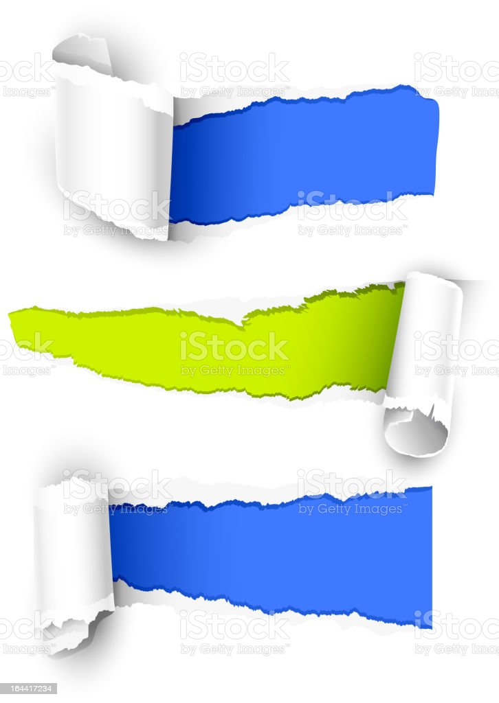 Colour papers royalty-free stock vector art