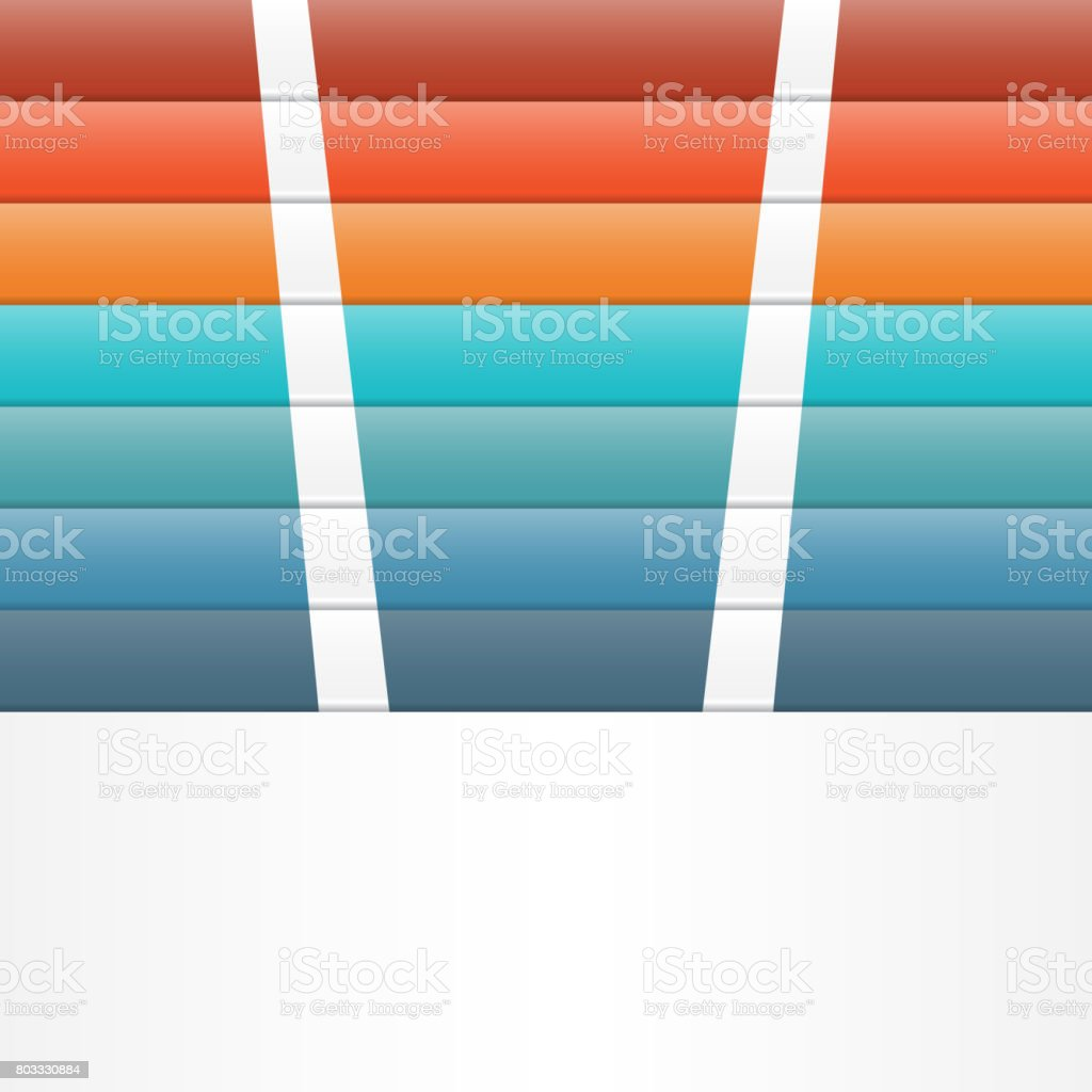 Colour strips for template infographic vector art illustration