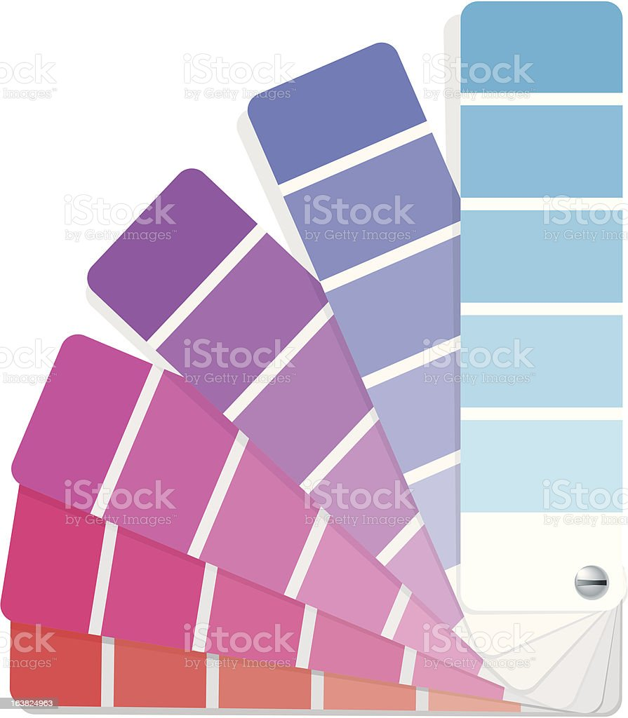 Colour swatch vector art illustration