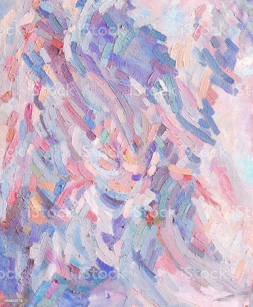 Olio di pennello di vernice colorata illustrazione royalty-free