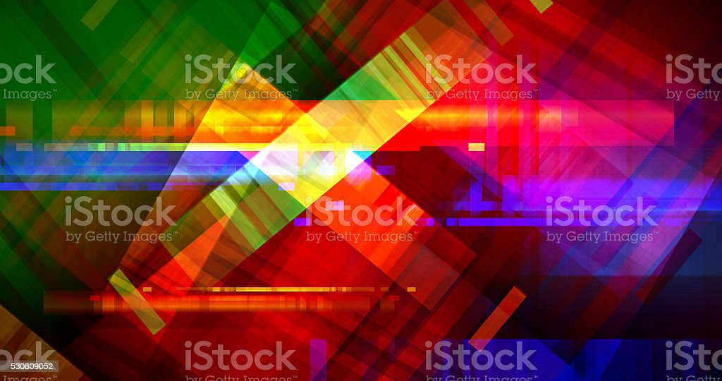 Colourful Communication Chaos Abstract vector art illustration