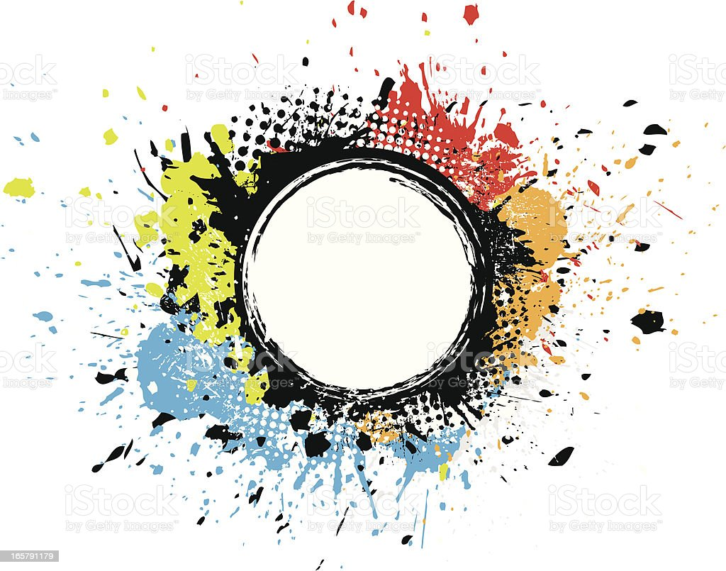 Colourful grunge circles royalty-free stock vector art