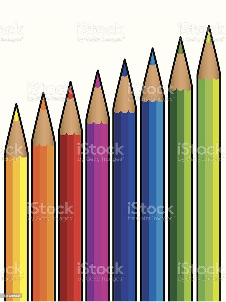 colourful pencils vector art illustration