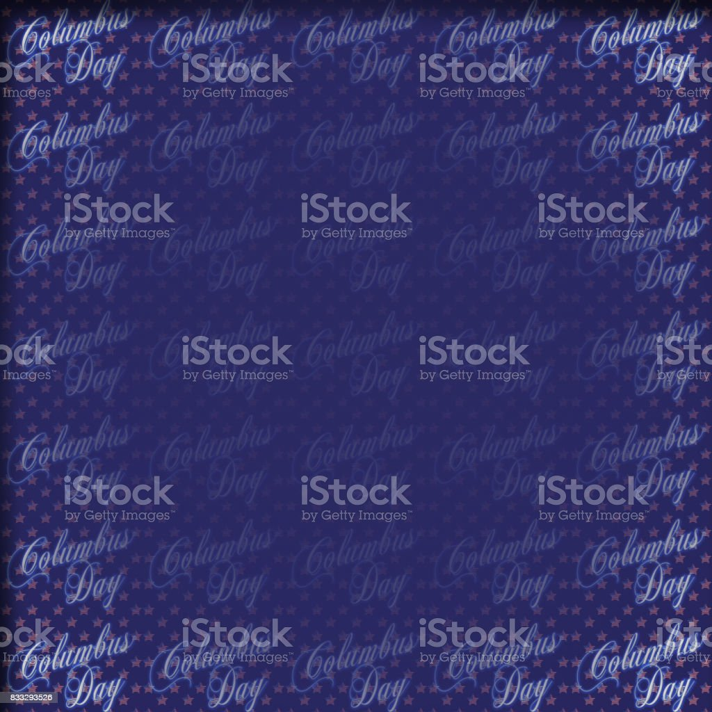 Columbus Day, Holiday, 3D illustration, blue background, empty blank space, perfect background. vector art illustration