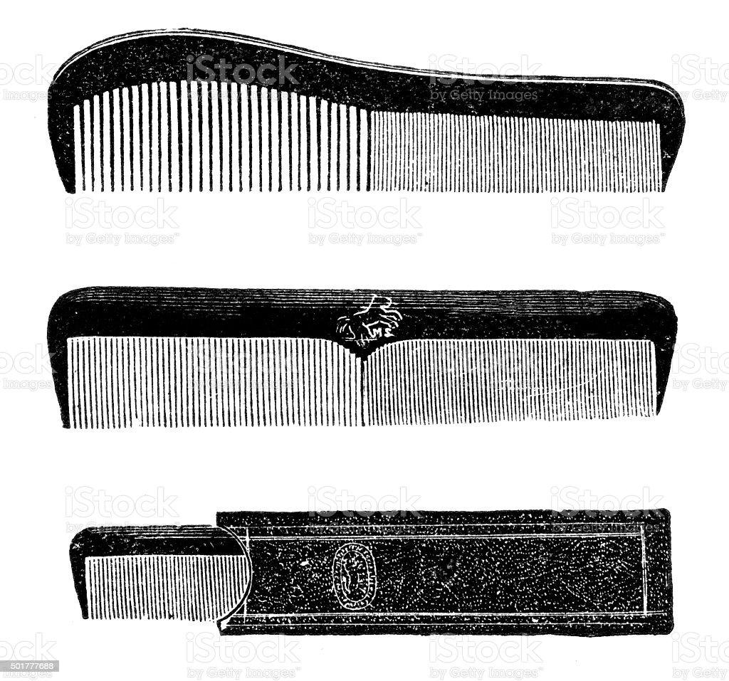 comb vector art illustration