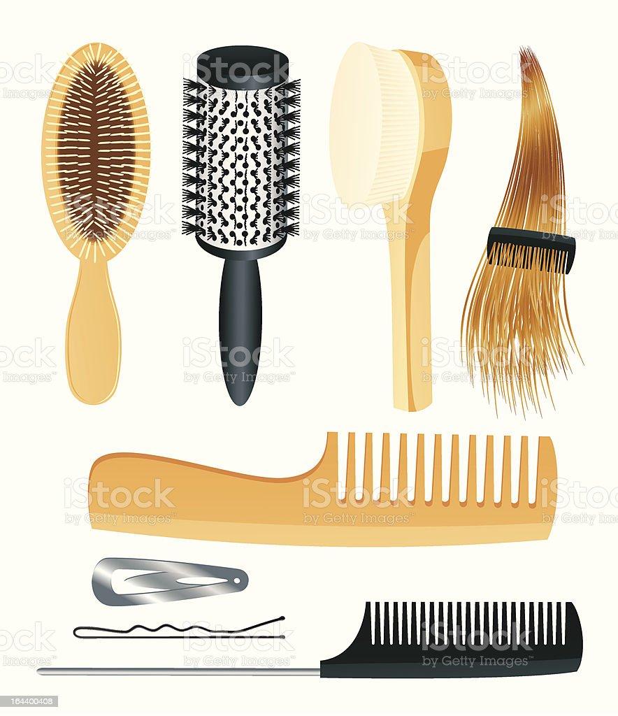 Comb set vector art illustration