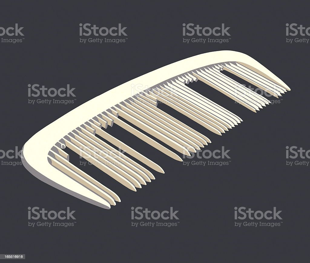 Comb with Missing Teeth royalty-free stock vector art