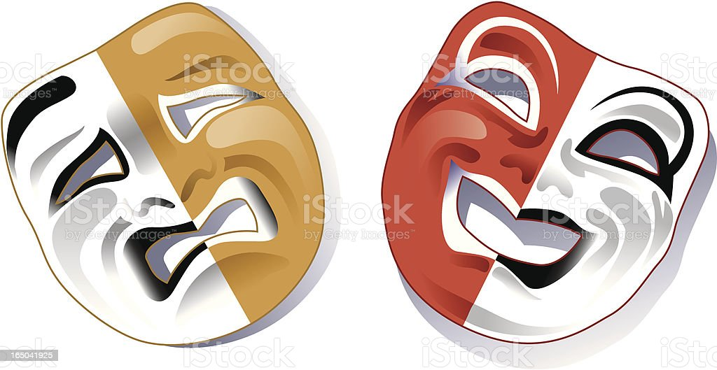 Comedy/tragedy Greek masks royalty-free stock vector art