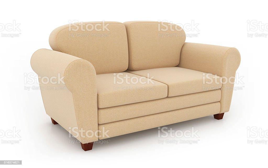 Comfortable sofa vector art illustration