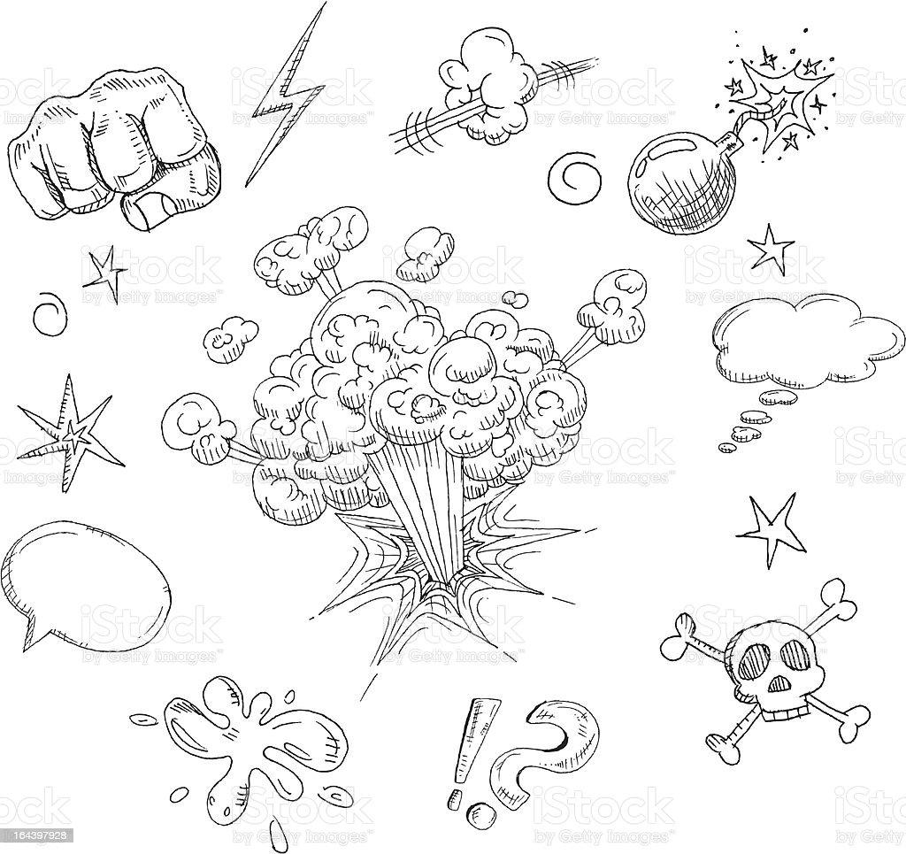 Comic elements royalty-free stock vector art