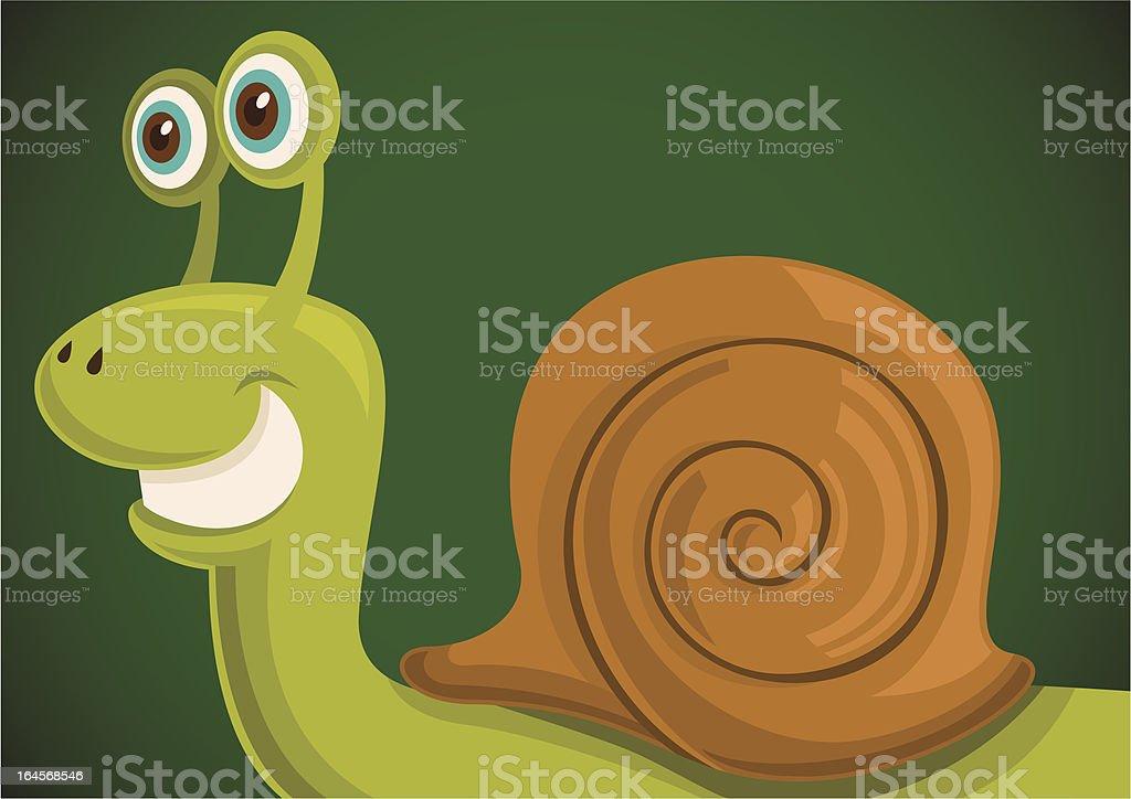 Comic snail. vector art illustration
