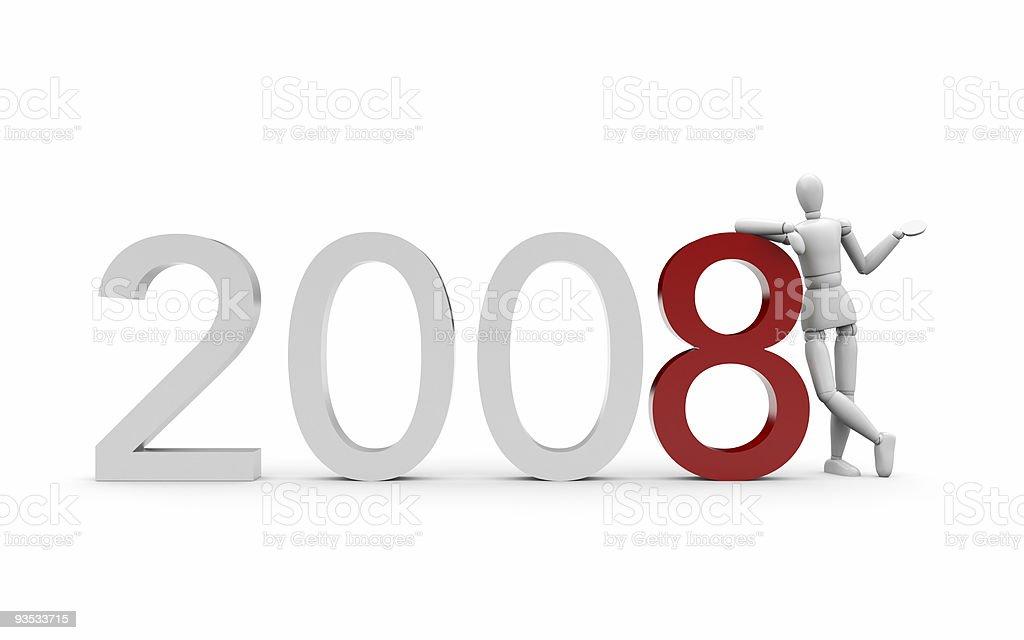 Coming 2008 royalty-free stock vector art
