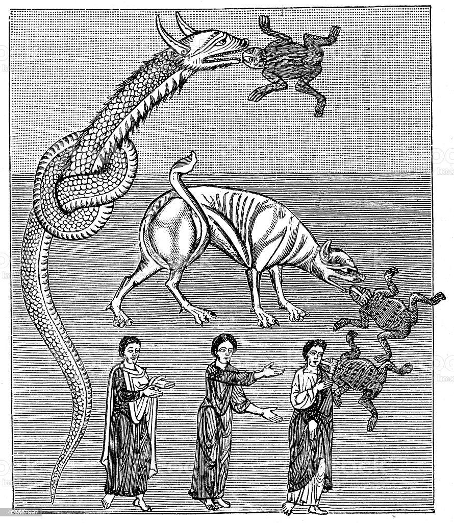 Commentary on the Apocalypse vector art illustration