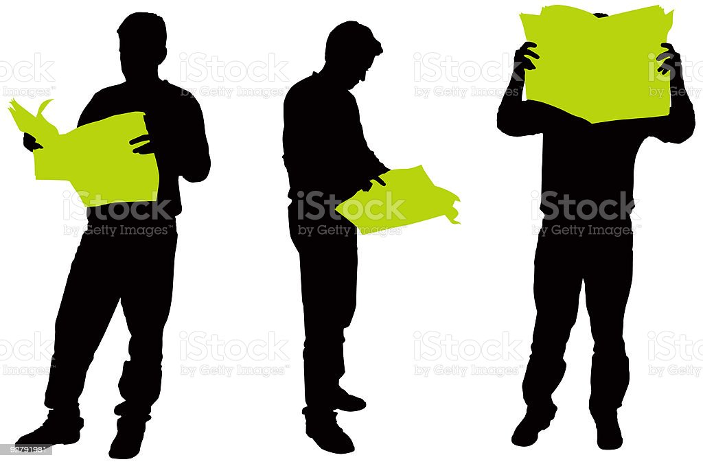 Commerce Silhouettes 02 royalty-free stock vector art