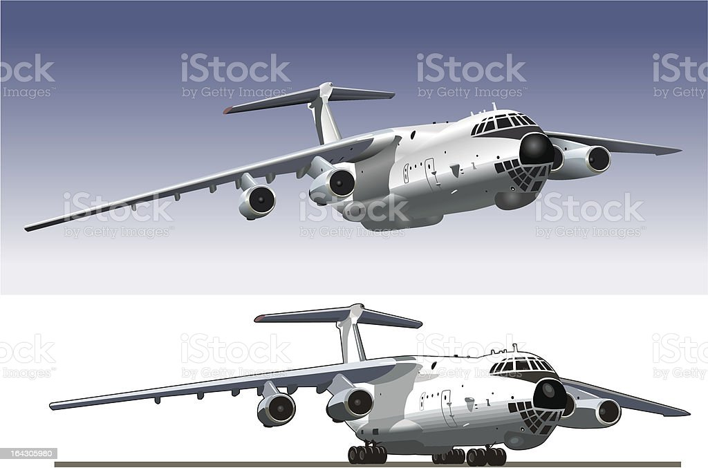 Commercial freighter royalty-free stock vector art