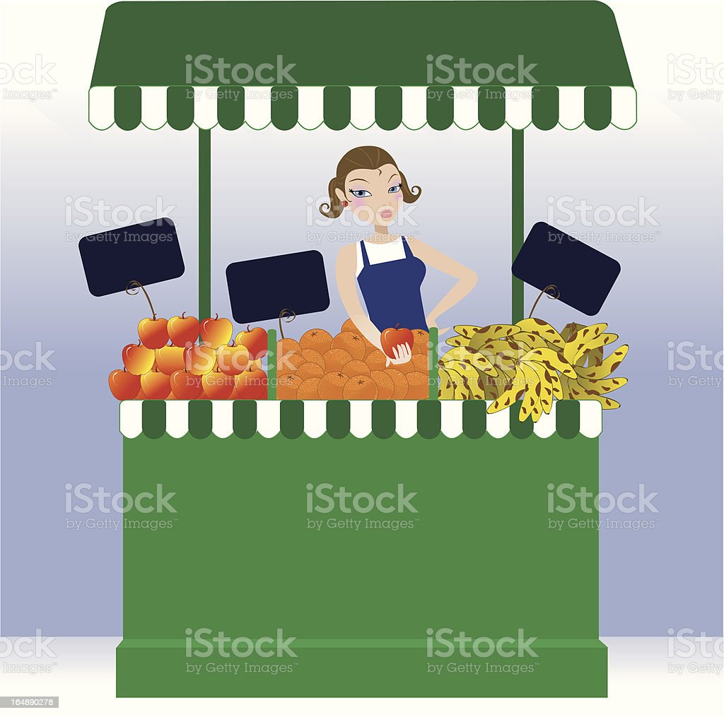 commercial of fruits royalty-free stock vector art