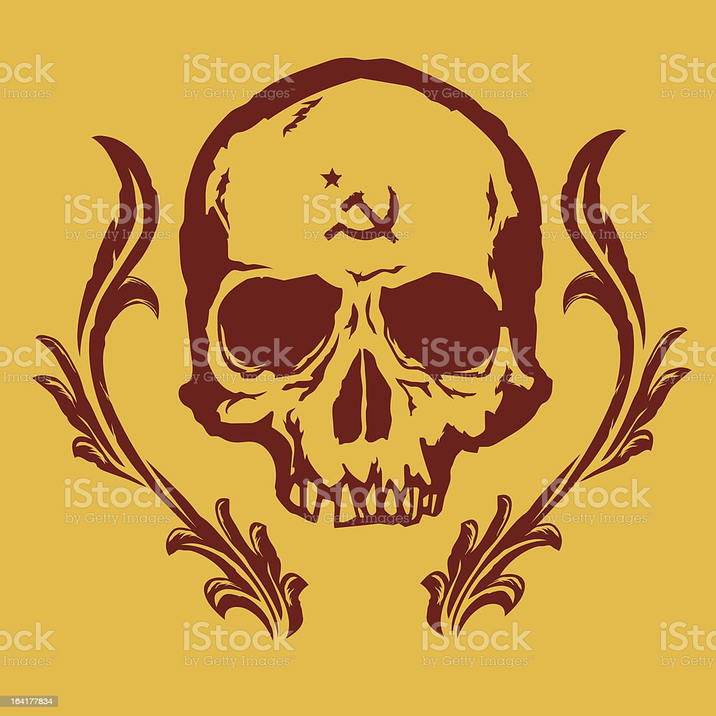 commie deth vector art illustration