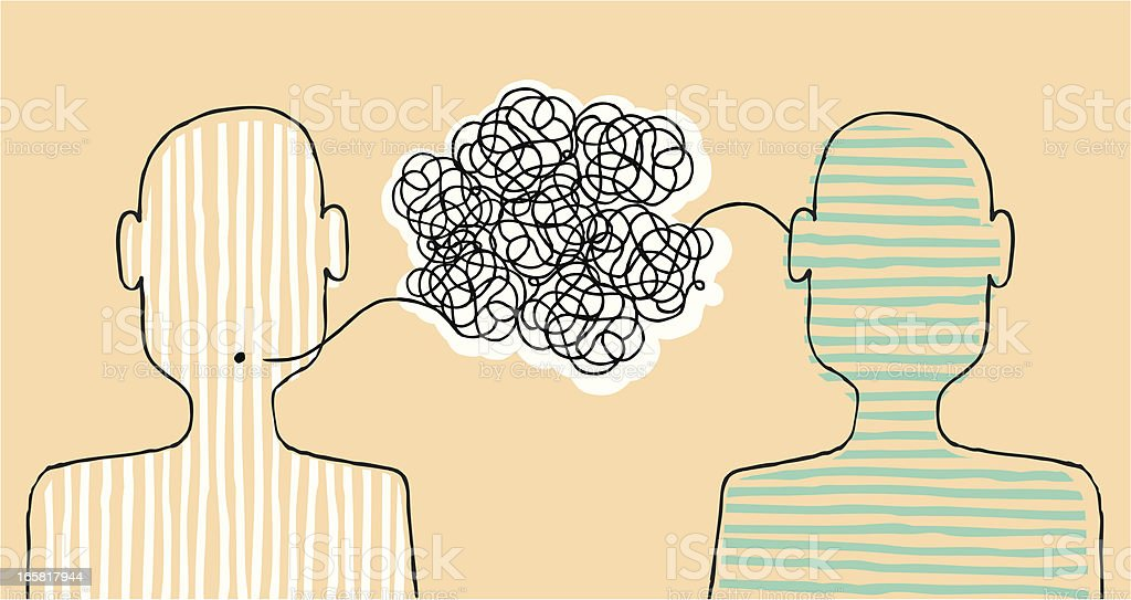 Communicating a message vector art illustration