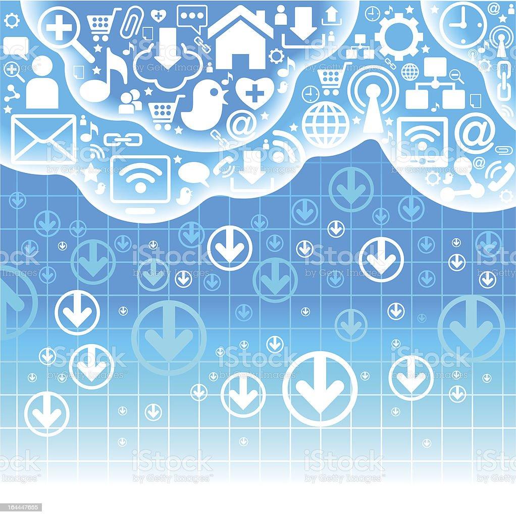 communication cloud royalty-free stock vector art