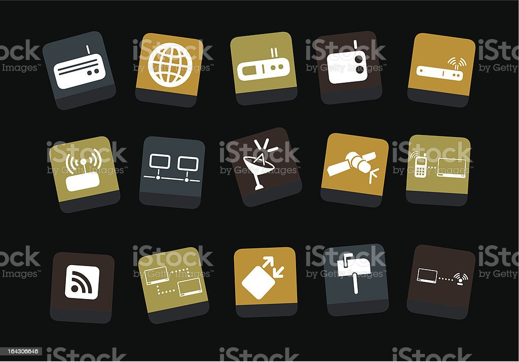 Communication Icon Set royalty-free stock vector art