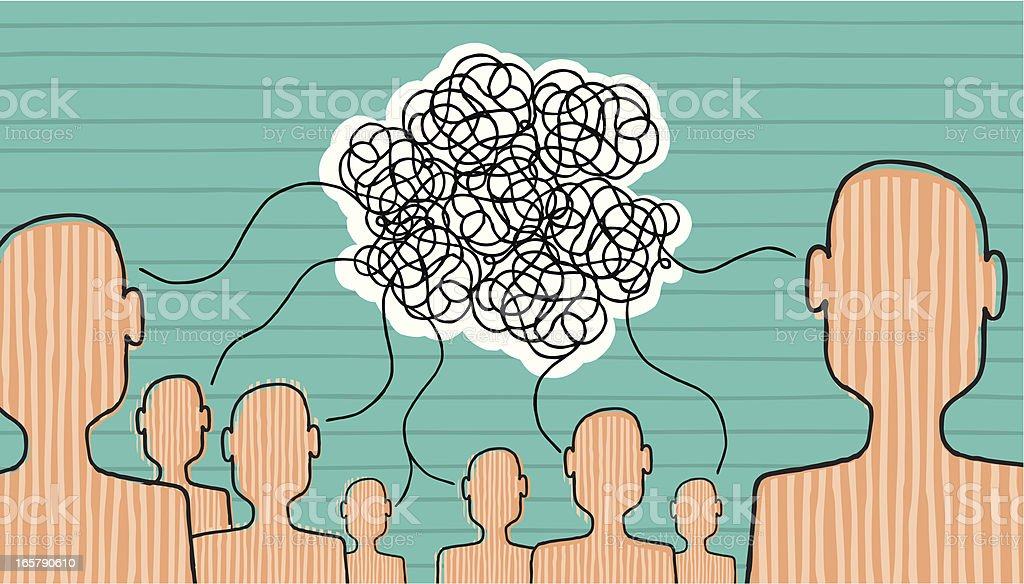 Communication is built vector art illustration