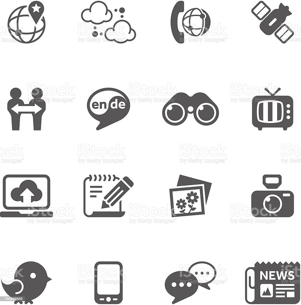Communication & Wireless Icon Set | Unique Series vector art illustration