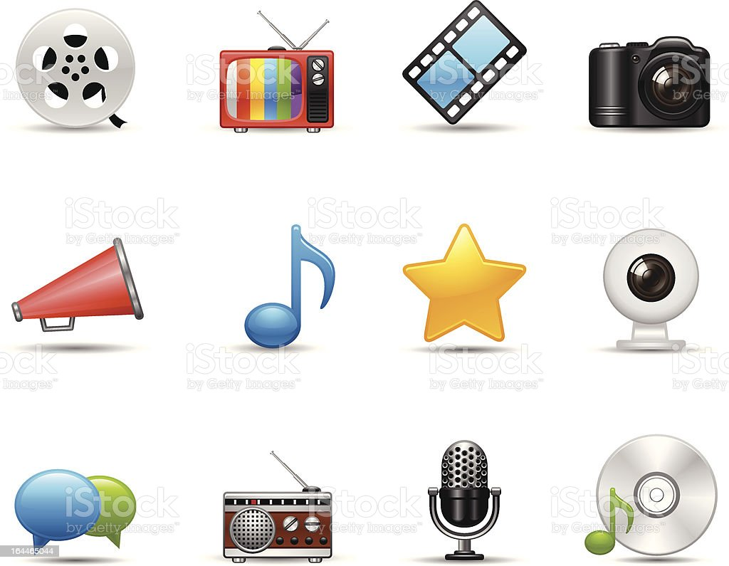 Communications & Entertainment Icon royalty-free stock vector art