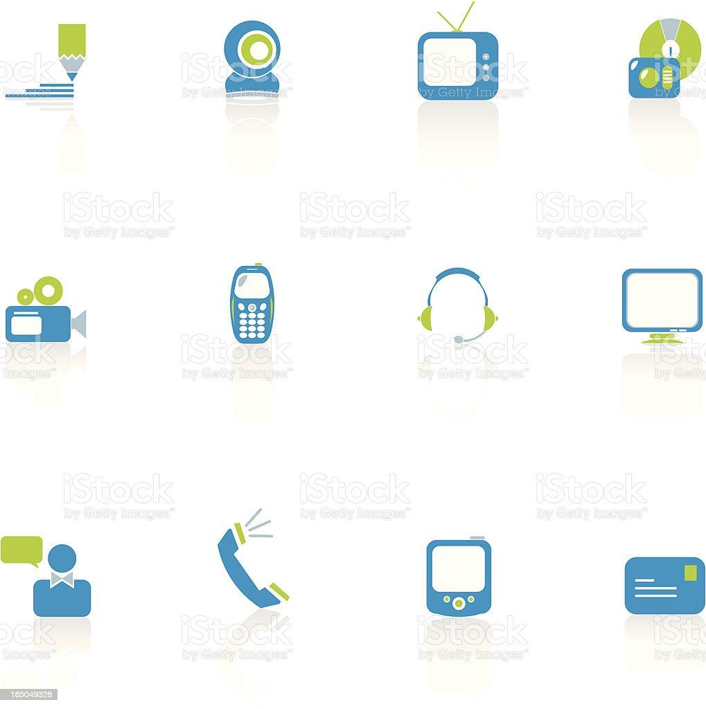 Communications Icon Set royalty-free stock vector art
