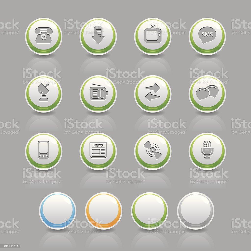 communications icons vector art illustration