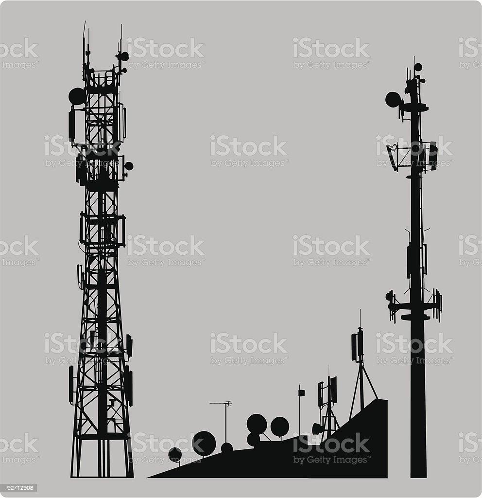 Communicatios Mast vector art illustration