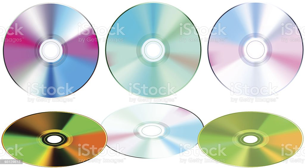 Compact disk isolated on white royalty-free stock vector art