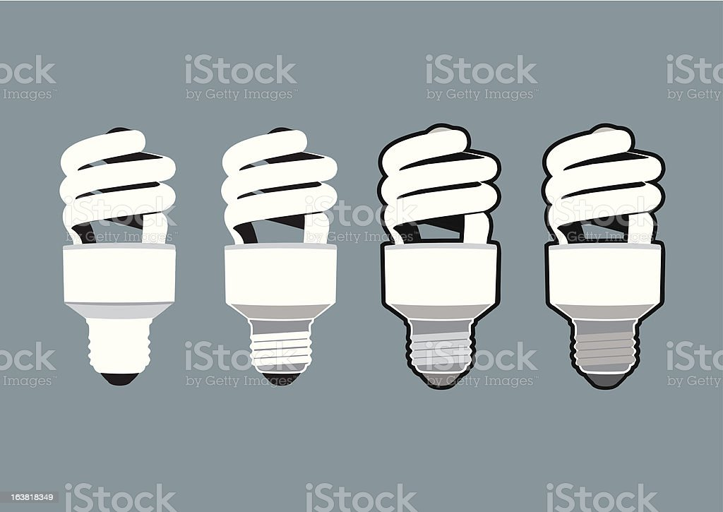 Compact Flourescent Bulbs royalty-free stock vector art