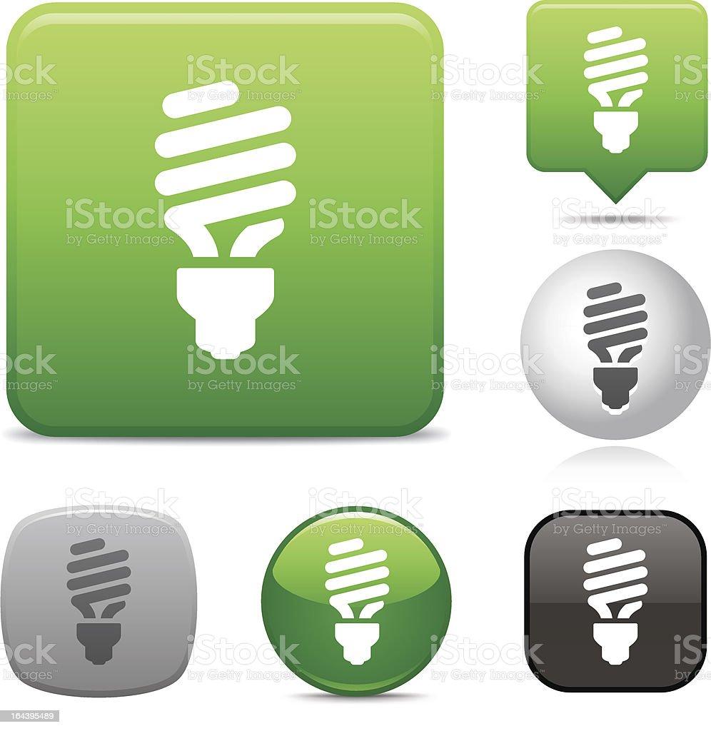 Compact Fluorescent Lightbulb icon vector art illustration