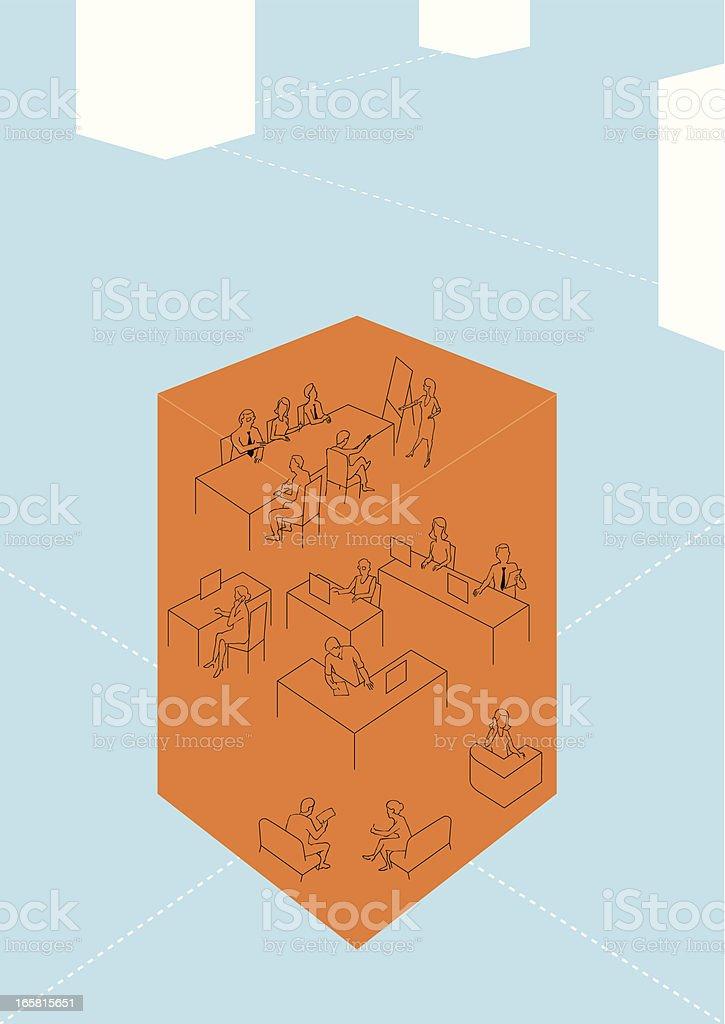 company network royalty-free stock vector art