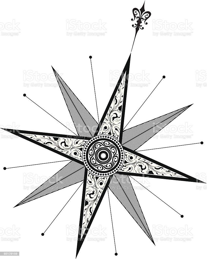 Compass (Vector) royalty-free stock vector art
