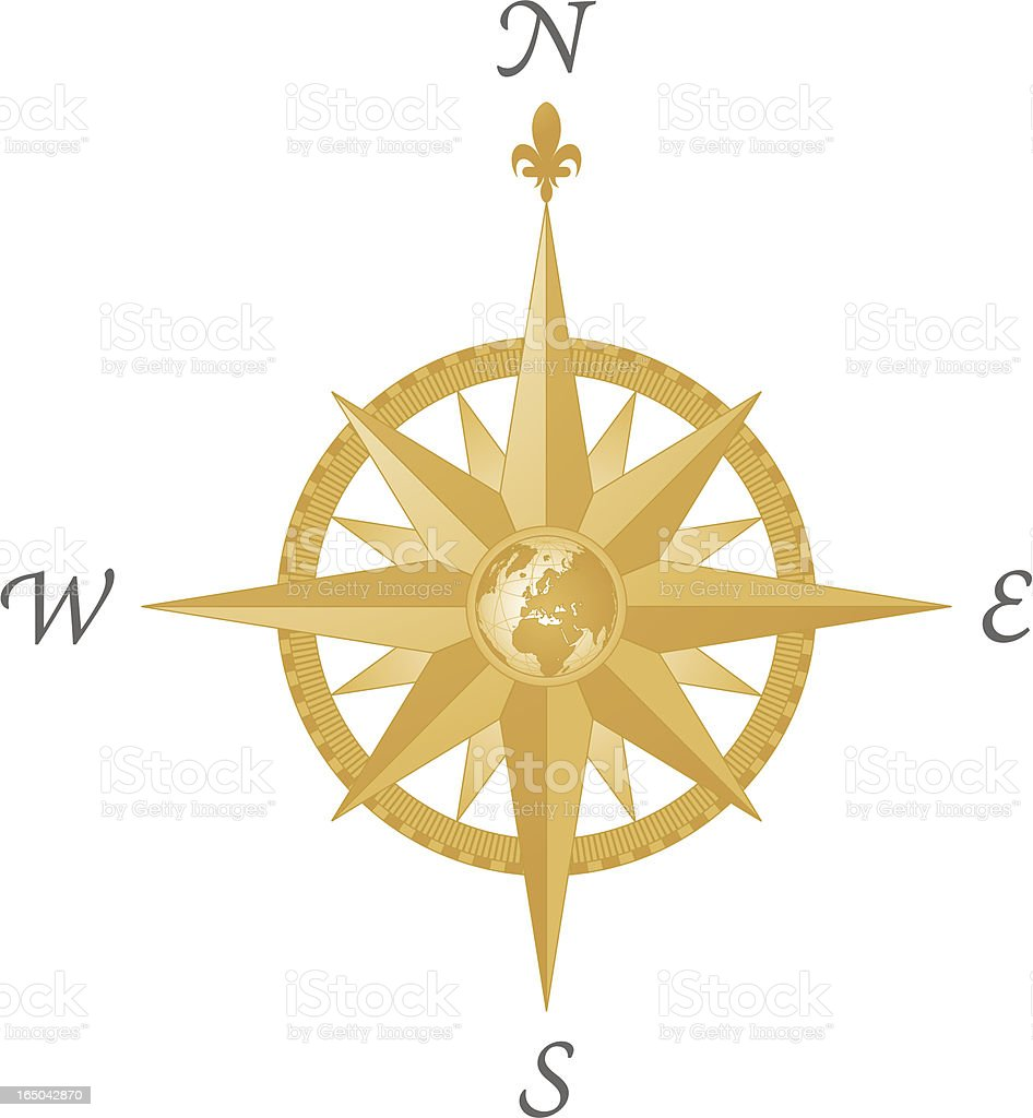 Compass Rose - Europe ( vector & jpg ) vector art illustration