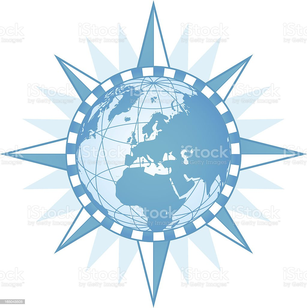 Compass World - Europe ( vector & jpg ) royalty-free stock vector art