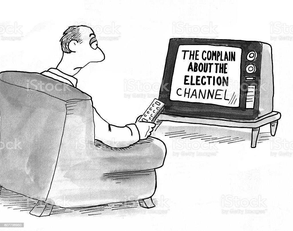 Complain About Election vector art illustration